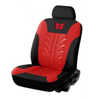 Butterfly Car Seat Covers PU Leather Auto Seat Protector (2pcs/set Red)