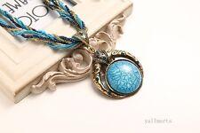 Fashion Jewelry Boho Women Bead Crystal Bib Collar Chunky Chain Necklace Pendant