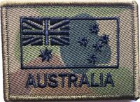 DPCU Army Australia National Flag Patch Subdued with Hook Backing