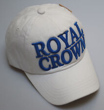 BNWT Vintage College Style Royal Crown Hat Curve Peak Baseball Cap Blue White