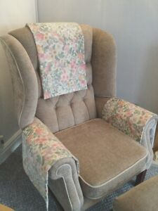 Chair Back Arm Cover Slip Cap Antimacassar Sofa Armchair M & S Country COTTAGE