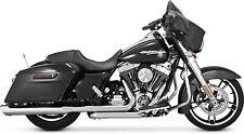 Vance and Hines Exhaust Chrome Twin Slash Round Slip-Ons Harley Touring 95-15