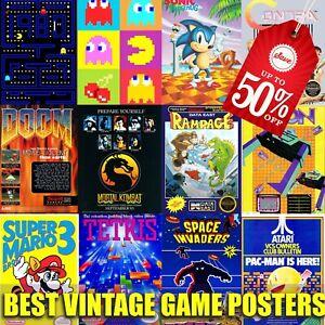 Vintage game retro poster reprint Ornament home decor gamer style retro poster