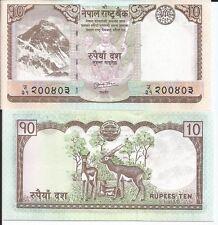 NEPAL 10 RUPIAS 2010 P 61b LOTE DE 5 BILLETES