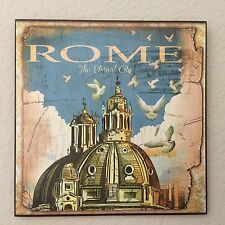 Vintage Retro ROME Plaque Wall Decor French Country Cottage