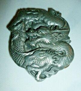 Bergamot Brass Works Chinese Dragon Design Belt Buckle - Made In USA