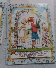 Lot of 3 Mary Engelbreit 3D Dimensional Friendship Cards & Envelopes