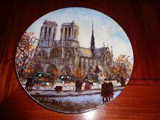 Limoges Collectors Plate LA CATHEDRALE NOTRE-DAME