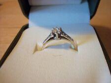 Vintage 18ct Gold & Platinum Diamond Solitaire Engagement Ring 0.4 Carat