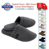 Luxury Hotel Terry Towel Slippers Men Women Unisex Bath Spa Real Turkish Cotton