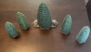 Heroscape Terrain - Forest Set of 5 Evergreen Trees - Five Pretty Trees