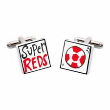 Super Reds Cufflinks by Sonia Spencer, gift boxed. Hand painted, RRP £20!