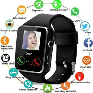 2021 Touch Smart Watch Women Men Heart Rate For iPhone Android IOS Waterproof