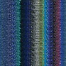 NORO ::Taiyo #86:: cotton silk wool yarn Blue-Violet-Navy-Teal-Ash