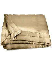Donna Karan Home Reflection Gold Dust King Silk Quilt $750 Gold