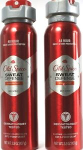 2Old Spice Sweat Defense Dermatologist Knock Out Dry Spray Antiperspirant 3.8 oz