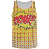 POW Comic Book Super Hero All Over Adult Tank Top