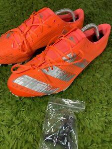 NEW Adidas Adizero Finesse Running Spikes - Orange Size 11.5 EE4598 Track NEW