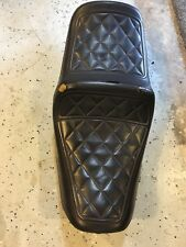 1980-1982 HONDA CB750C CUSTOM SEAT SADDLE LEATHER OEM METAL BASE RIDER PASSENGER