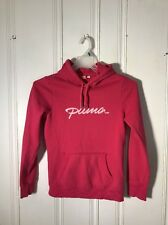 PUMA WOMENS SMALL PINK HOODIE LONG SLEEVE GRAPHIC