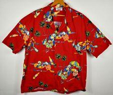 Pacific Legend Hawaiian Shirt 2XL Parrot Drink Floral Camp