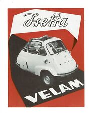 Vintage ISETTA VELAM Microcar Brochure France BMW Mint Condition Free Shipping