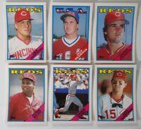 1988 Topps Traded Cincinnati Reds Team Set of 6 Baseball Cards