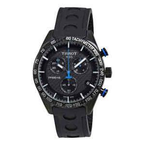 Tissot Men's PRS 516 Chronograph Black Carbon Dial Watch - T1004173720100 NEW