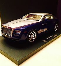 2015 Rolls Royce Wraith Dark Blue and Silver Color 1/18 Scale by Model 777. New!