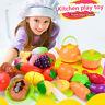 24 teile/satz Küche Spielen Spielzeug Obst Gemüse Schneiden Rolle Täuschen Spiel