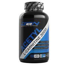 Acetyl L-Carnitine 3000 250 Kapseln (Vegan) Diät + Stärkstes L-Carnitin