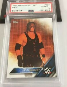 2016 Topps WWE Kane Then, Now, Forever #127 PSA 10 POP 1