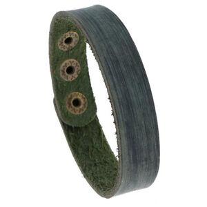 Punk Mens Simple Leather Bangle Bracelet Wristband Adjustable Cuff Wrap Jewelry