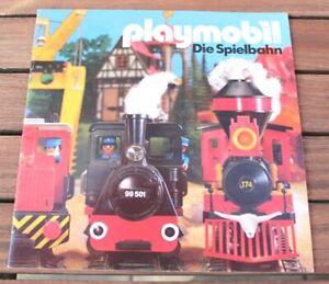 Playmobil® Katalog 24 Seiten Train Eisenbahn  21 x 21 cm  80er (Nr.213)