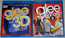 Musical Blu-ray Lot - Glee the 3D Concert (Used) Glee Encore (New)