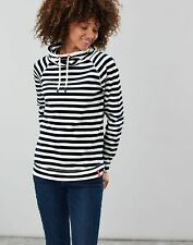 Joules Womens Mayston Funnel Neck Light Sweatshirt - CREAM NAVY STRIPE