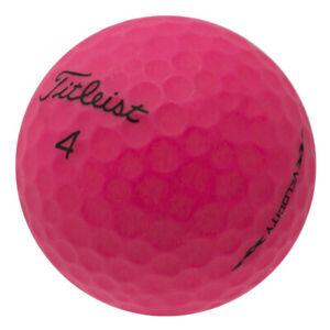 120 Titleist Velocity Matte Pink Mint Used Golf Balls AAAAA*No Markings or Logos