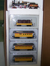 HO UNION PACIFIC R.R. TRAIN SET AMERICAN 4-4-0 OLD TIME LOCOMOTIVE # RRUP-010