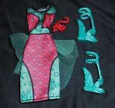 NEW Lagoona Blue Monster High Doll Clothes Outfit Shoes Dress Dance Fright Away