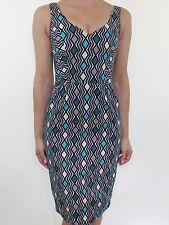 BNWT PRINCIPLES By Ben De Lisi geometric print wiggle pencil dress size 6 eu 34
