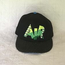 NIKE TRUE AIR HAT 80s 90s style vtg look Snapback Cap Black Green Baseball Cap