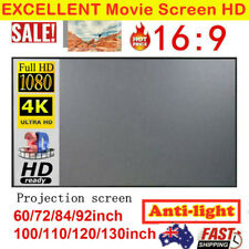 "120"" 130'' 16:9 4K Portable Projector Screen Home Cinema Theatre Projection AU"