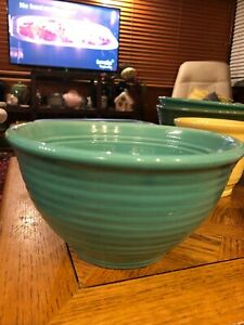 Bauer Pottery Ring Ware #12 Bowl    turquoise green