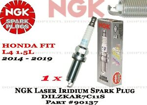 1 x OEM NGK Laser Iridium Spark Plugs 90137 DILZKAR7C11S For Honda Fit 2014-2018