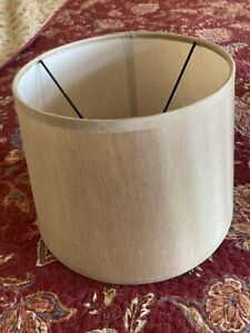 "Oatmeal Drum Lamp Shade 7""x7"" EUC"