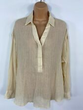 BNWT WOMENS MARKS & SPENCER IVORY STRIPED SMART CASUAL SHIRT BLOUSE TOP UK 18