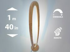 Natural oak floor lamp 1m tall, wooden floor lamp, dimmable remote control
