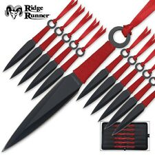 Ridge Runner 24-Pc Throwing Knife Set With Black Zippered Nylon Pouch