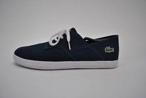 Lacoste Men's Size 11.5 Canvas Shoes Athletic Sport Ortholite Blue