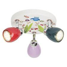 Brilliant plafonnier enfant LED a 3 lumieres Birds Motif Nature diametre 31 cm G
